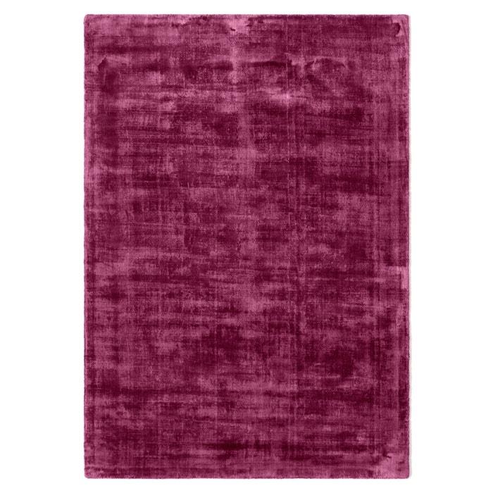 teppich izri unifarben antikoptik 100 viskose pflaume la redoute interieurs la redoute. Black Bedroom Furniture Sets. Home Design Ideas