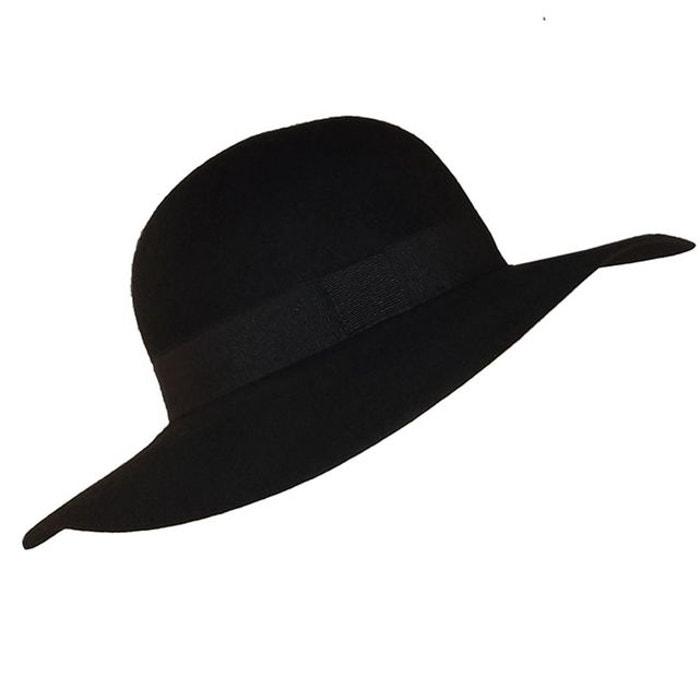 chapeau capeline noir chapeau tendance la redoute. Black Bedroom Furniture Sets. Home Design Ideas