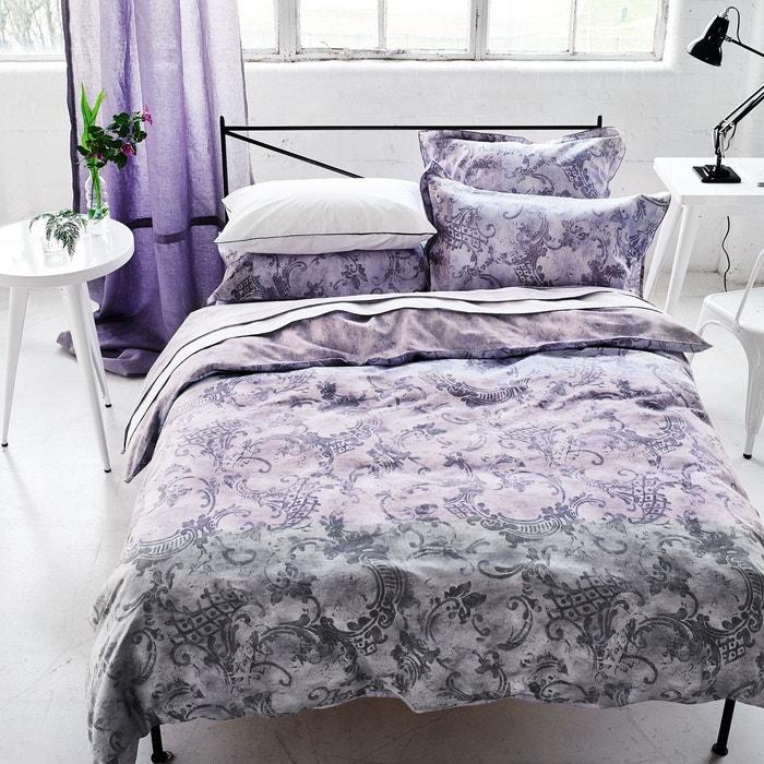 drap plat imprim en satin de coton filigriana am thyste designers guild la redoute. Black Bedroom Furniture Sets. Home Design Ideas