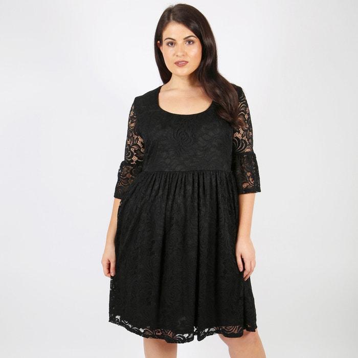Vestido negro recto largo