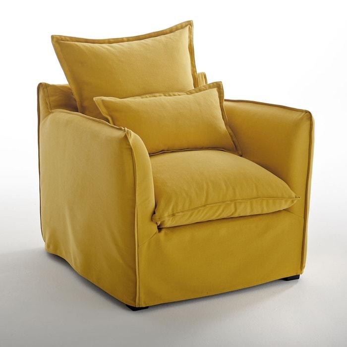 Fauteuil en coton/lin confort, Odna Bultex La Redoute Interieurs