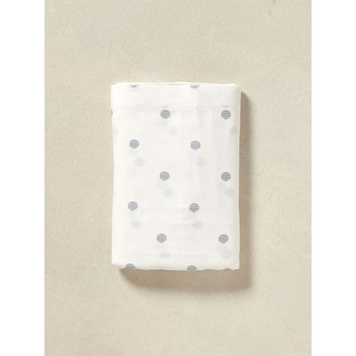 drap plat pois blanc imprim cyrillus la redoute. Black Bedroom Furniture Sets. Home Design Ideas