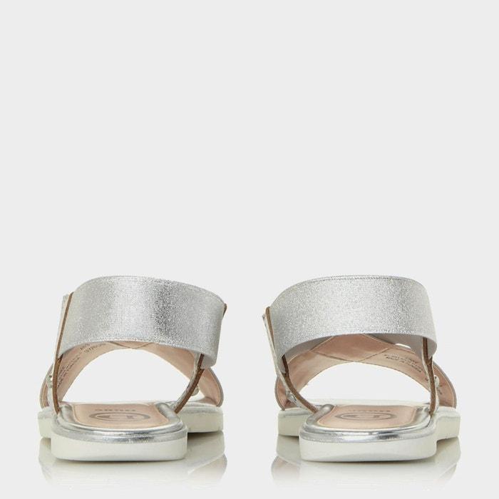Sandales plates à brides élastiques croisées - linke Dune London