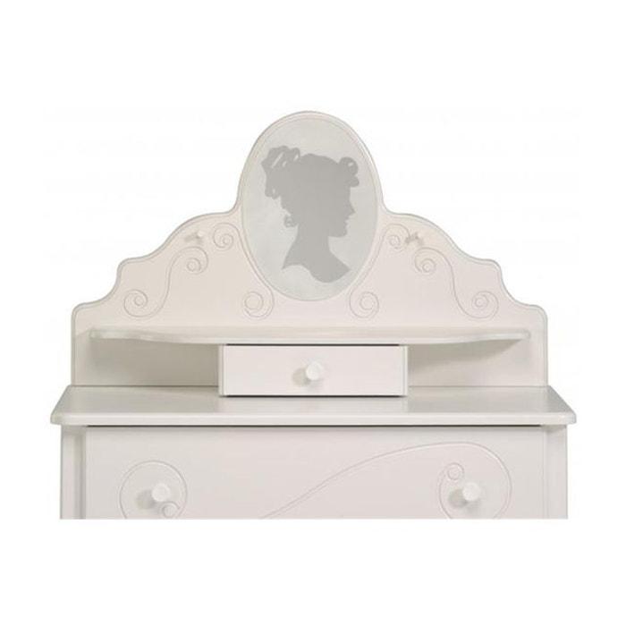 coiffeuse pour chambre enfant blanc laqu astrid blanc declikdeco la redoute. Black Bedroom Furniture Sets. Home Design Ideas