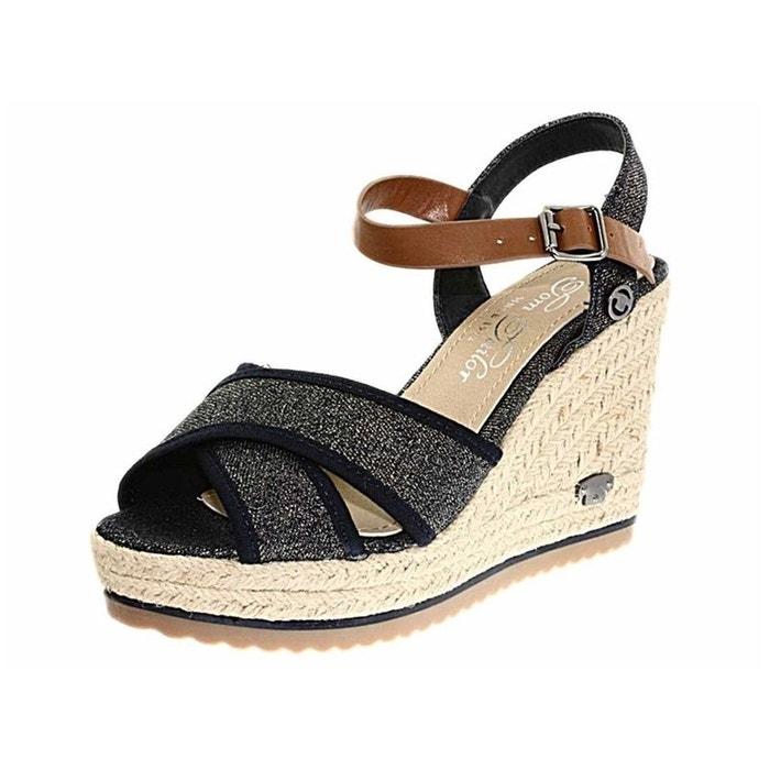 Sandales  /  nu-pieds textile  bleu Tom Tailor  La Redoute