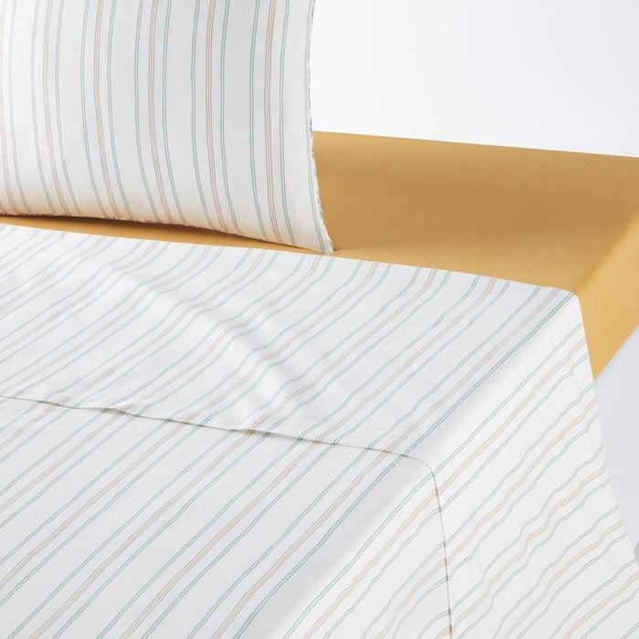 drap plat imprim saumane ecru imprim la redoute interieurs la redoute. Black Bedroom Furniture Sets. Home Design Ideas