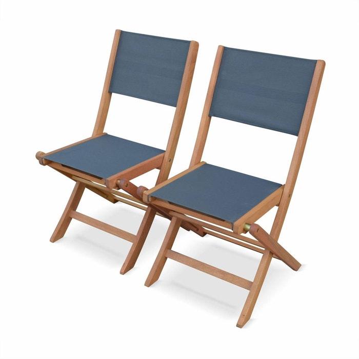 Lot De 2 Chaises De Jardin En Bois Almeria, 2 Chaises Pliantes