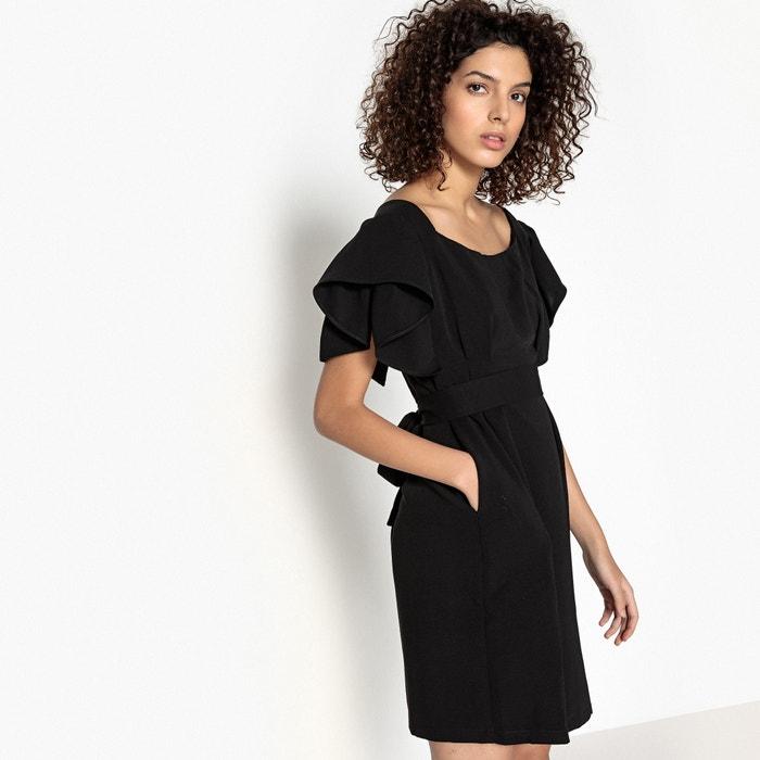 Plain Short Straight Dress with Short Sleeves  SEE U SOON image 0