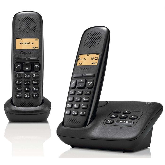 telephones sans fil gigaset siemens giga a 150 a duo noir. Black Bedroom Furniture Sets. Home Design Ideas