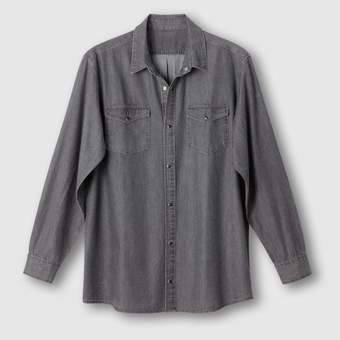 фото Рубашка однотонная с длинными рукавами CASTALUNA FOR MEN