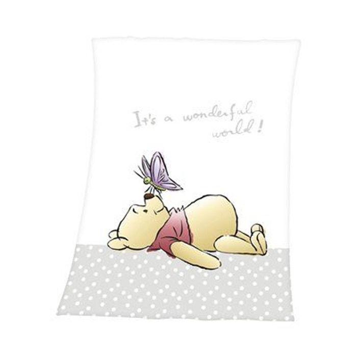 Herding Couverture bébé Winnie l\'Ourson 75 x 100 cm couverture douce  couverture...