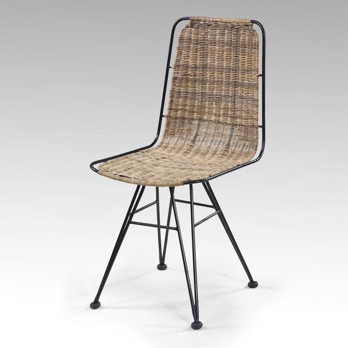 chaise en rotin krabi couleur unique kha home design la redoute. Black Bedroom Furniture Sets. Home Design Ideas