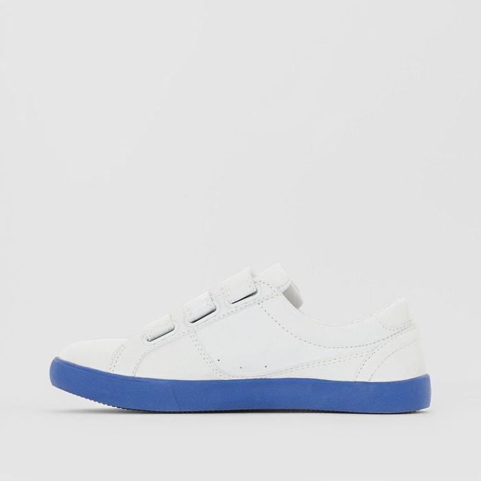 Baskets semelle colorée blanc/bleu Mademoiselle R