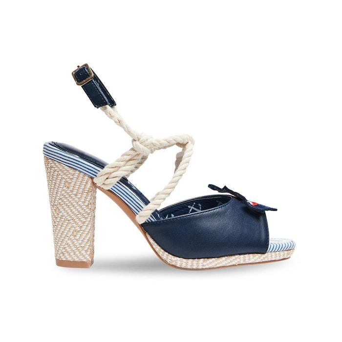 Sandales nautiques à bride arrière et brides en corde joe browns femme  bleu Joe Browns  La Redoute
