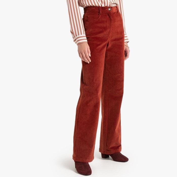 Pantalon large en velours fin