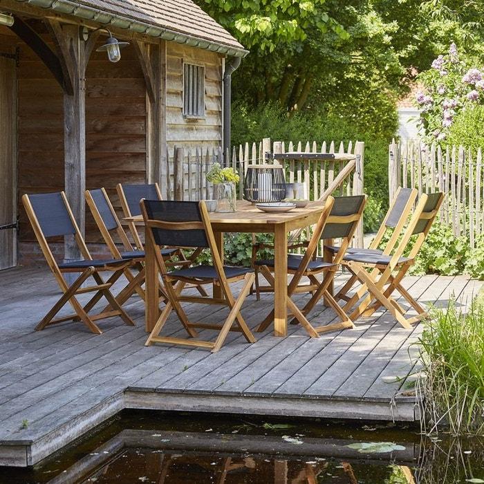 Salon de jardin en bois d\'acacia fsc extensible 8 à 10 places acacia ...