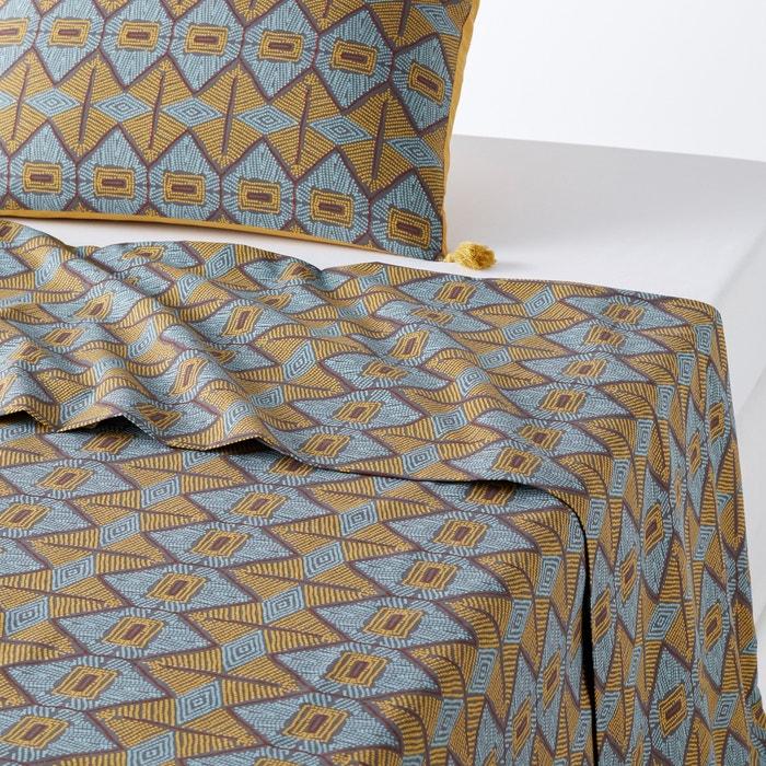 drap plat imprim kouban la redoute interieurs imprim la redoute. Black Bedroom Furniture Sets. Home Design Ideas