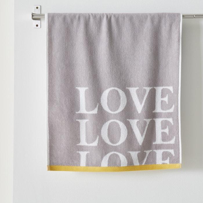 Image Maxi drap de bain LOVE, en coton. La Redoute Interieurs