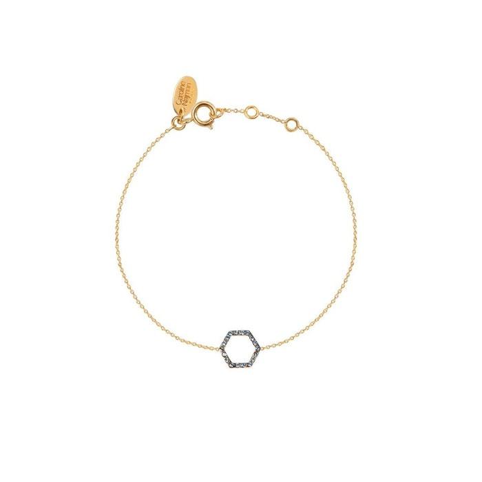 Bracelet doré aquamarine honey bee bleu Caroline Najman | La Redoute Toutes Les Saisons Disponibles eTIpM