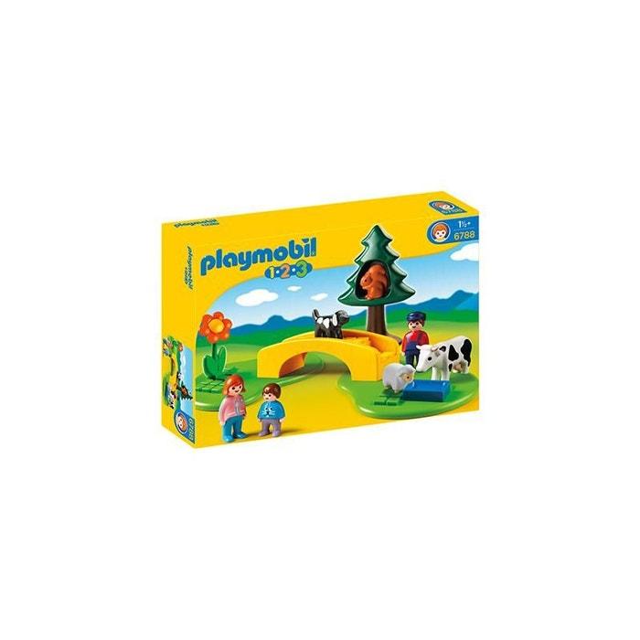Famille avec animaux de la prairie pla6788 couleur unique playmobil la re - La redoute playmobil ...