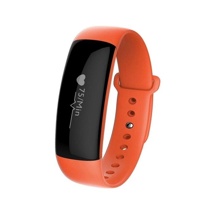 bracelet sport iphone android montre connect e etanche ip67 orange orange yonis la redoute. Black Bedroom Furniture Sets. Home Design Ideas