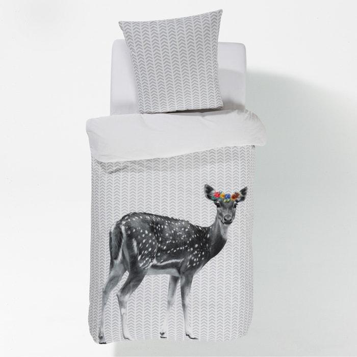 Imagen de Funda nórdica BAMBI FLEURS, estampada, de algodón. La Redoute Interieurs