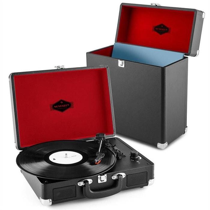 Peggy Sue Record Collector Set Tourne-disque rétro valise à vinyles -marron FlE6R