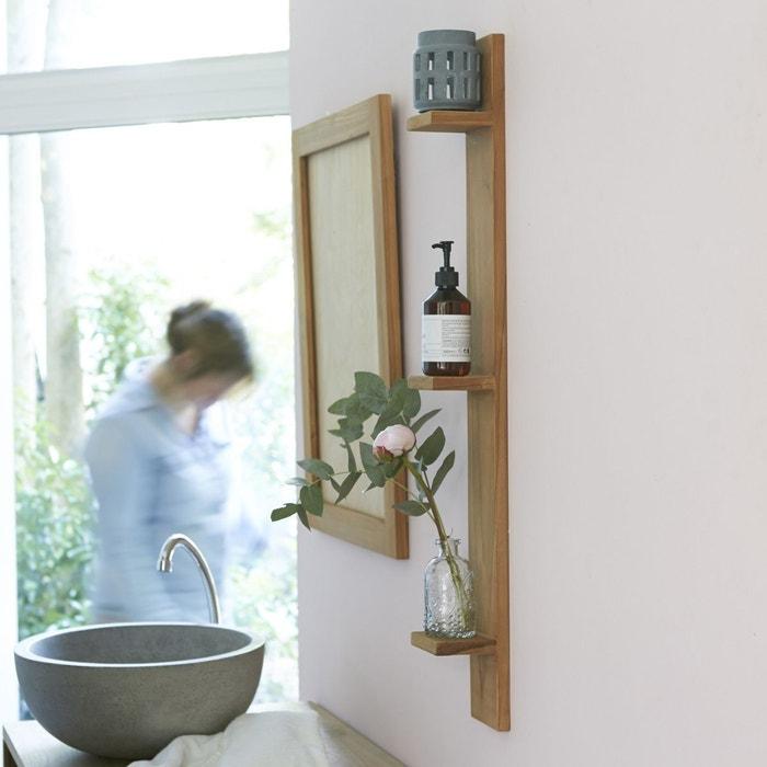 etag re murale de salle de bain en bois de teck bahya bois. Black Bedroom Furniture Sets. Home Design Ideas