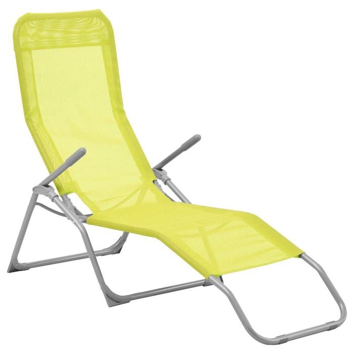 transat en texaline siesta vert vert jardideco la redoute. Black Bedroom Furniture Sets. Home Design Ideas