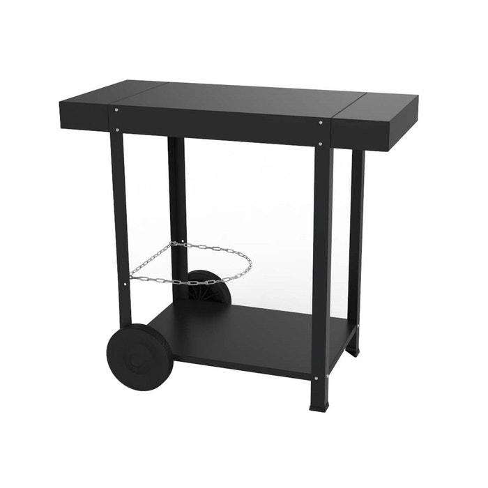 chariot plancha en acier thermolaqu noir eno couleur unique eno la redoute. Black Bedroom Furniture Sets. Home Design Ideas