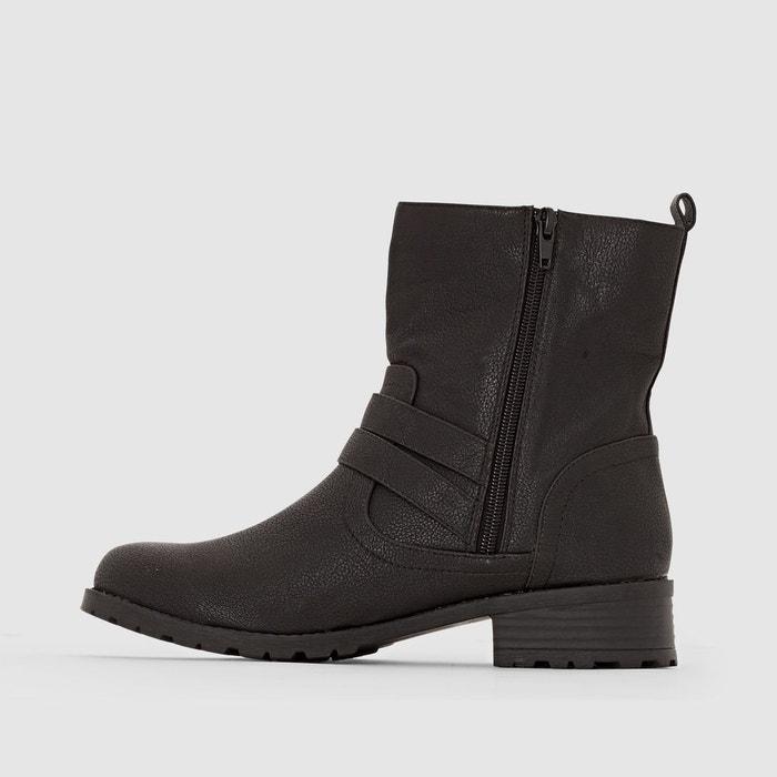 Boots motardes pied large 38-45 noir Castaluna