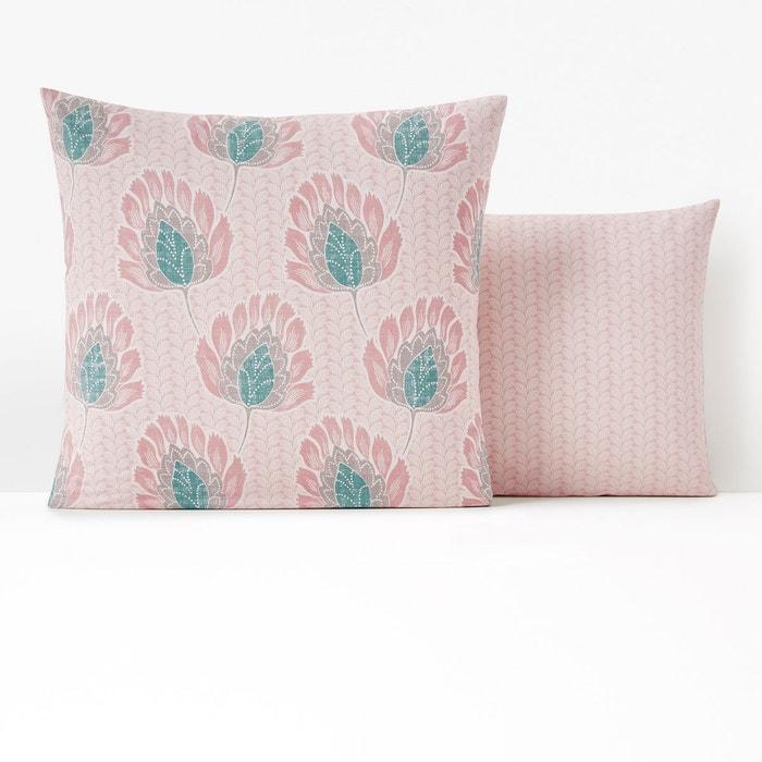 taie d 39 oreiller percale fazani imprim fleurs la redoute. Black Bedroom Furniture Sets. Home Design Ideas