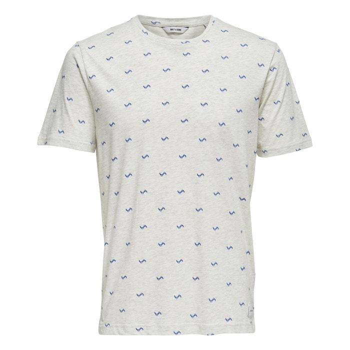 T-shirt scollo rotondo, motivo davanti, Onssebastian  ONLY & SONS image 0