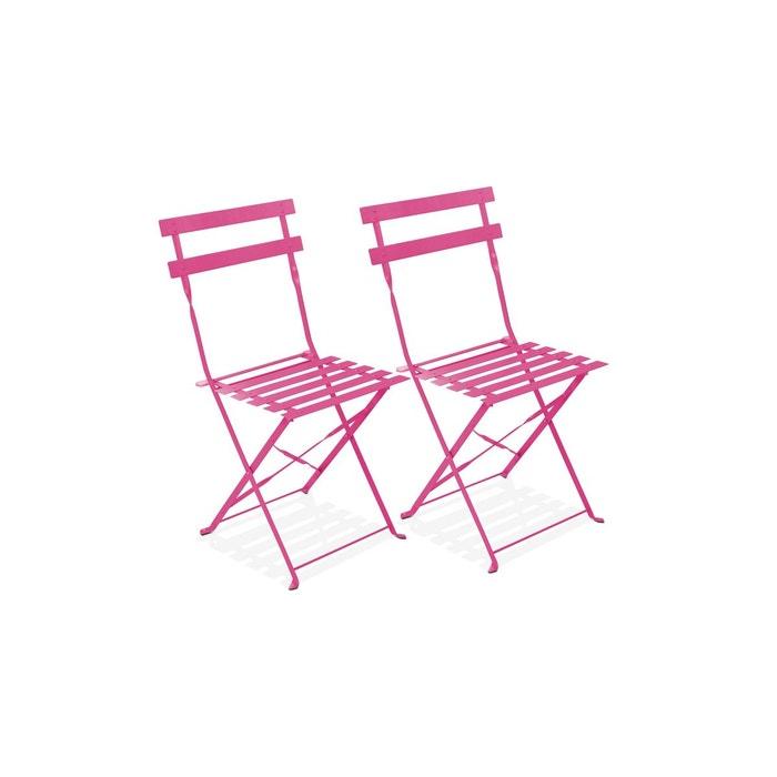 de 2 chaises bistrot pliantes Lot OkTwuPXZi
