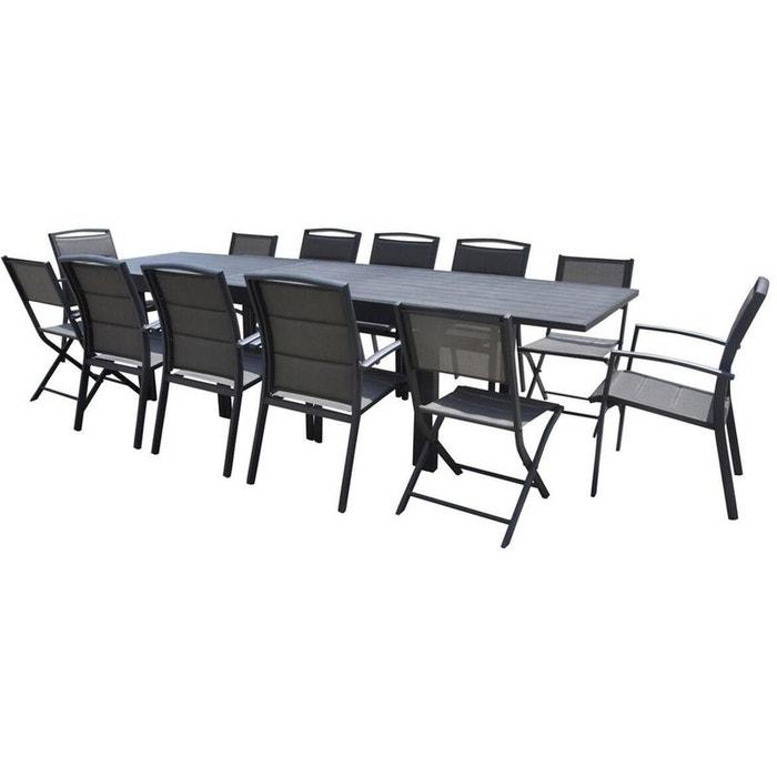 salon de jardin full aluminium 12 personnes modulo gris. Black Bedroom Furniture Sets. Home Design Ideas