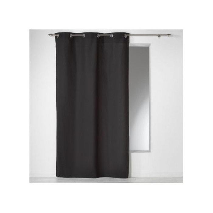 rideau uni intemporel en coton douceur d interieur la. Black Bedroom Furniture Sets. Home Design Ideas