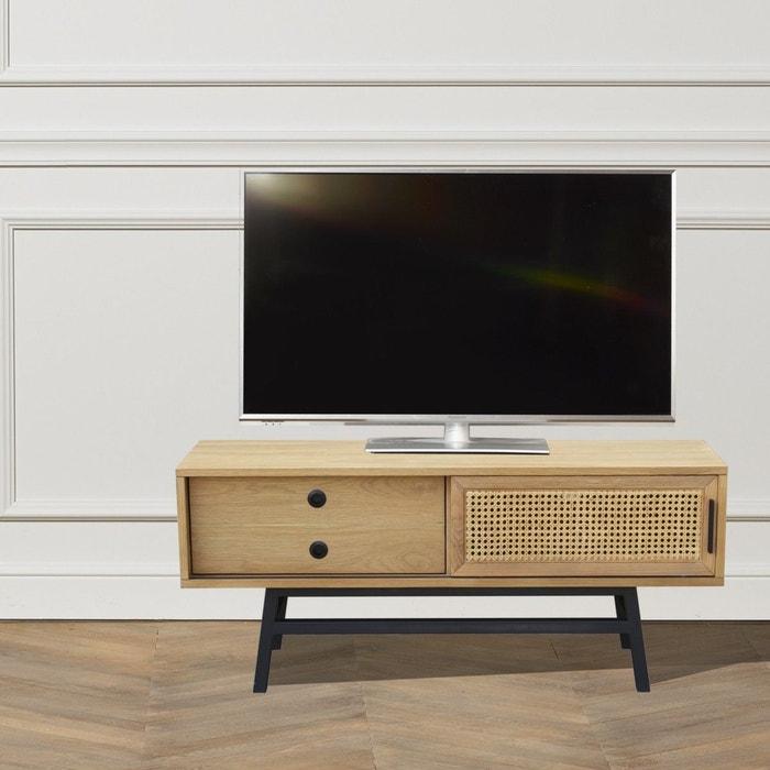 meuble tv ch ne lalala 1 porte 1 tiroir ch ne clair robin. Black Bedroom Furniture Sets. Home Design Ideas