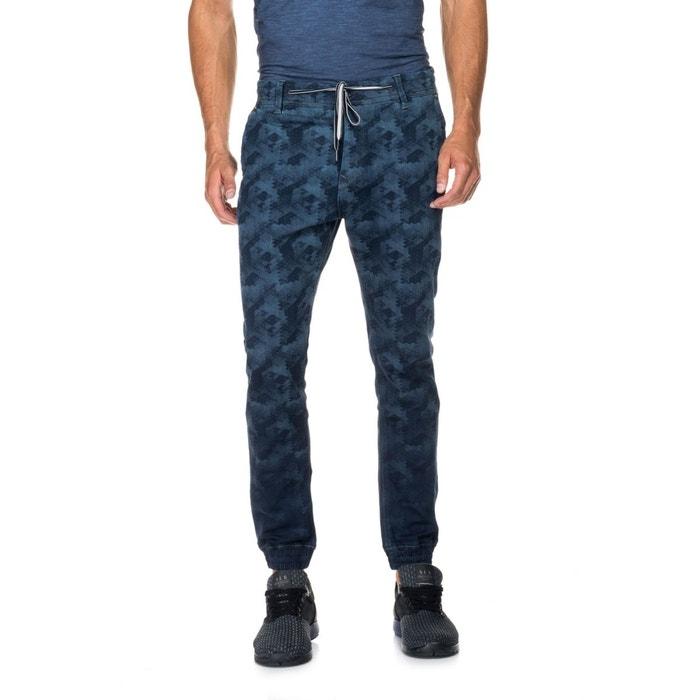 pantalons erik avec effet laser jambe slim lastique la cheville bleu salsa la redoute. Black Bedroom Furniture Sets. Home Design Ideas