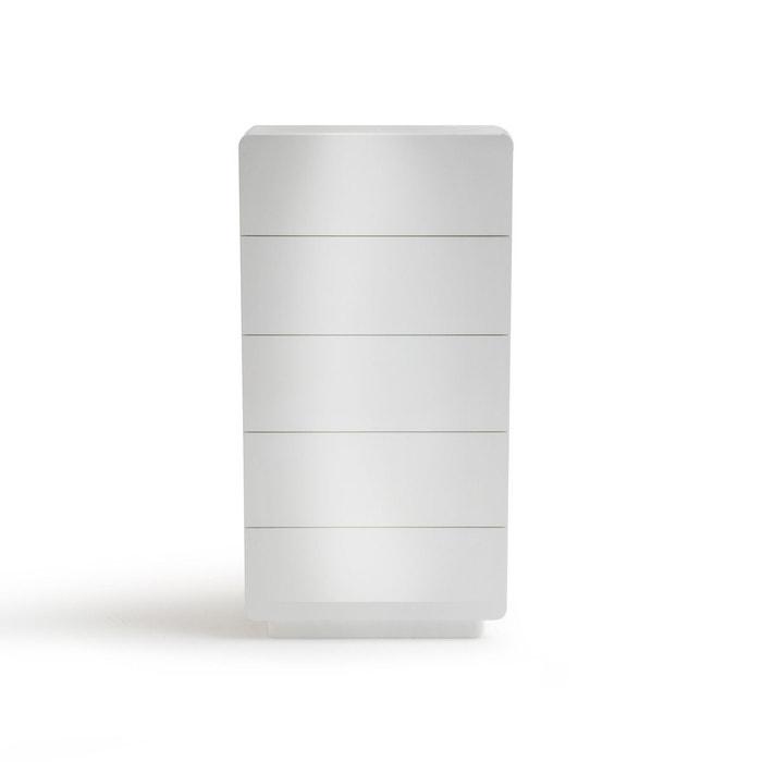 chiffonnier 5 tiroirs newark blanc la redoute interieurs la redoute. Black Bedroom Furniture Sets. Home Design Ideas