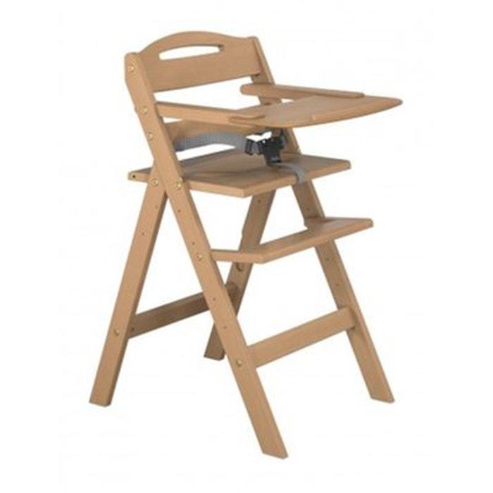 chaise haute b b en bois naturel baby fox couleur unique baby fox la redoute. Black Bedroom Furniture Sets. Home Design Ideas