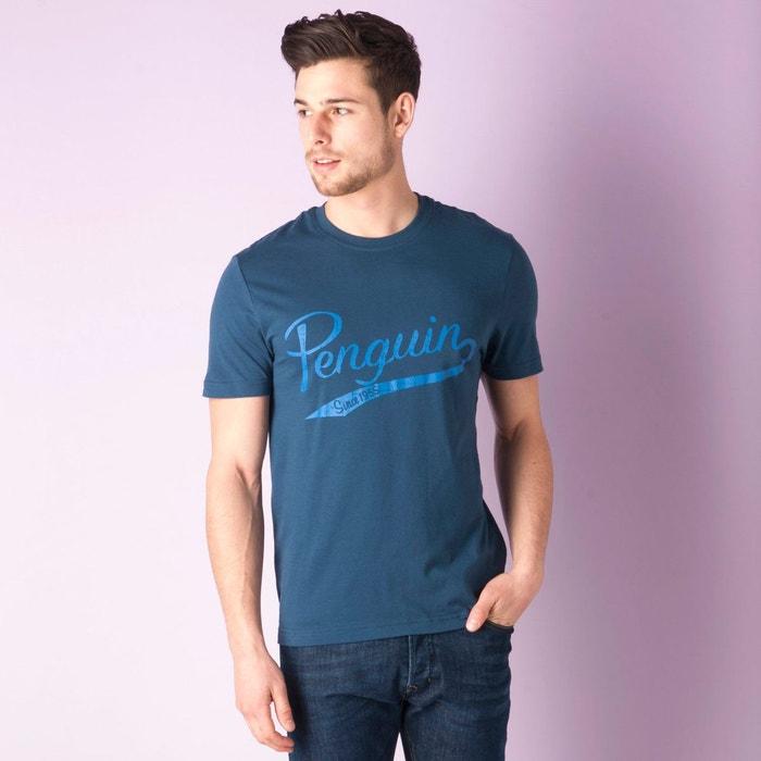 T shirt penguin tail print pour hommes bleu fonc original penguin la redoute - T shirt original homme ...