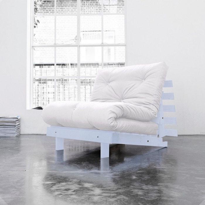 pack matelas futon ecru coton structure en bois gris clair naturel terre de nuit la redoute. Black Bedroom Furniture Sets. Home Design Ideas