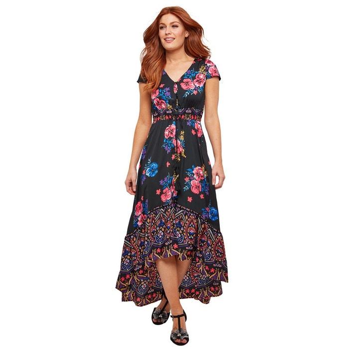 da96a3c4112 Robe longue style boheme a motif floral et cachemire multicolore Joe Browns