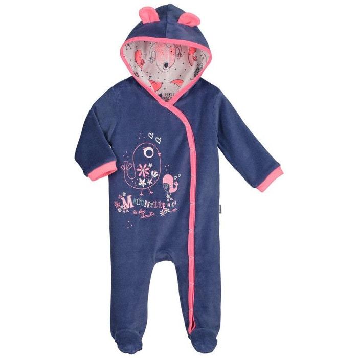 dfeb0bdae8f81 Surpyjama bébé velours Maronette PETIT BEGUIN image 0