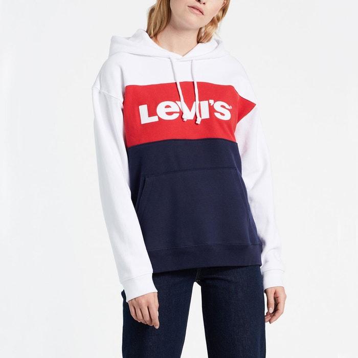 c87a74aaf5c Sweat à capuche cb sportswear hoodie blanc rouge bleu Levi s