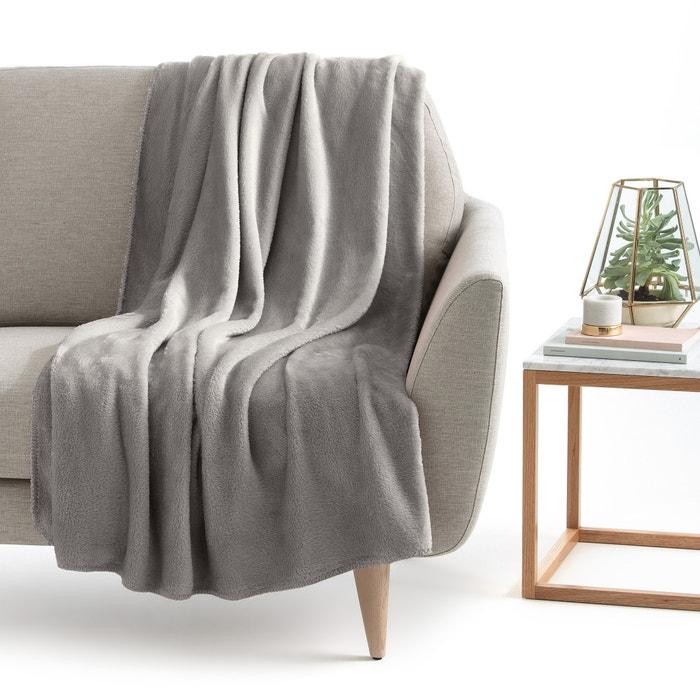 plaid microfibre mild la redoute interieurs gris clair la redoute. Black Bedroom Furniture Sets. Home Design Ideas