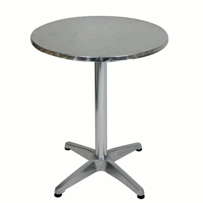 table gu ridon bistrot gris aluminium prix mini la redoute. Black Bedroom Furniture Sets. Home Design Ideas