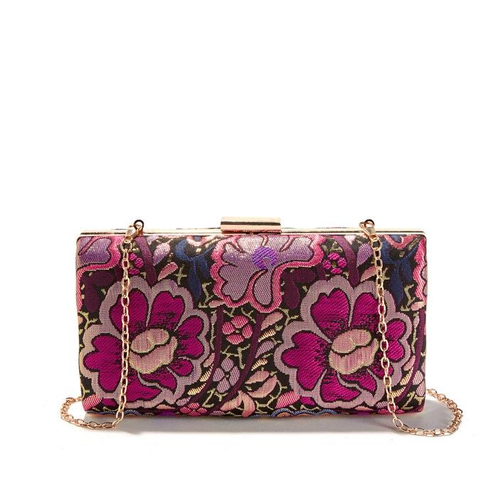 Floral Print Box Clutch Bag  La Redoute Collections image 0