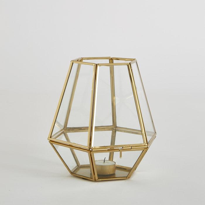 Miludi Glass and Metal Tea Light Holder