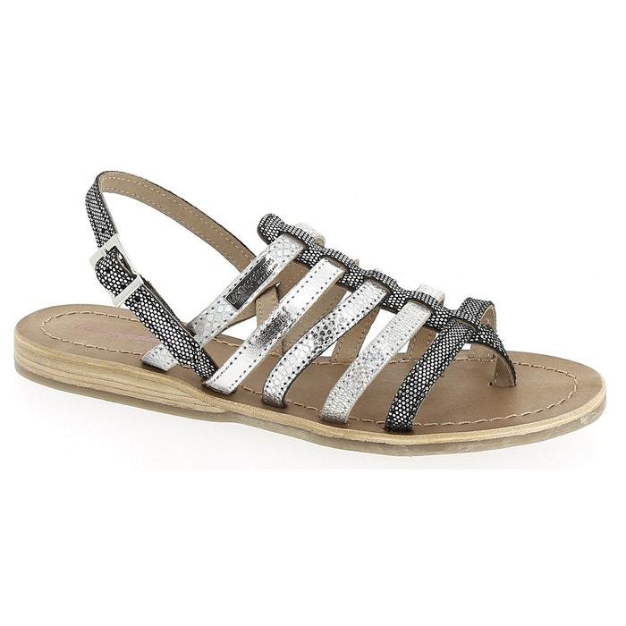 sandales belinda talon plat multibrides cuir gris les tropeziennes par m belarbi la redoute. Black Bedroom Furniture Sets. Home Design Ideas